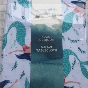 Mermaid indoor outdoor Oblong Tablecloth